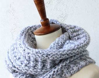 knit cowl wool blend gray cowl unisex cowl gray scarf knit wool cowl hand knit scarf black owned businesswool scarf knit gray scarf knit
