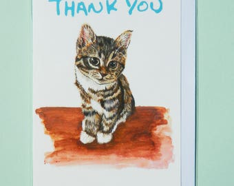 Kitten A6 Thank You Notelet, Greetings Card
