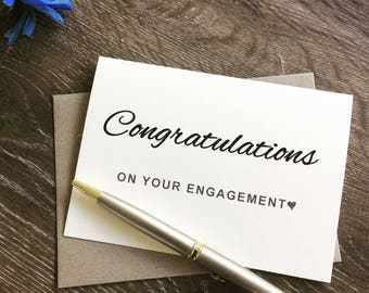 Engagement Congratulations card, Engagement gift card, Congratulations on your enagement, Congratulations engagemen card, Congrats card