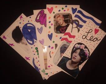 Kpop Handmade Bookmarks