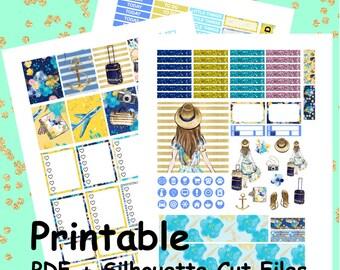 Seecret Escape Printable Planner Stickers, Weekly Kit, Weekly Planner Stickers, Printable Weekly Kit