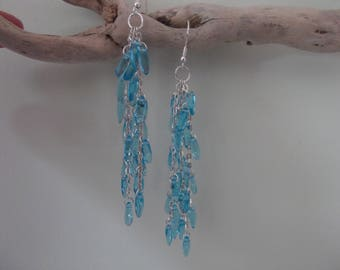 Earrings blue mist