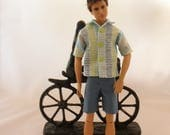 """Summer Casual Outfit for Ken®, Shorts & Shirt for 12"""" Male Fashion Dolls, 1:6 Male Action Figures"""