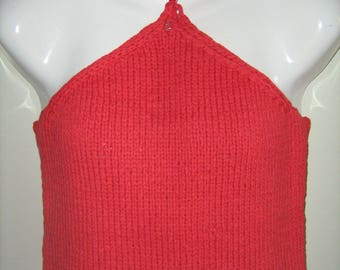 Top hand-knitted red docker t. 40
