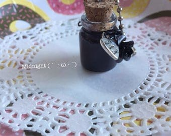 Slime Bottle Necklace/Keychain (Midnight)