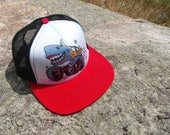 Sharkie the Monster Truck- Kids Trucker Hat. Inspired by youth and an outdoor lifestyle!