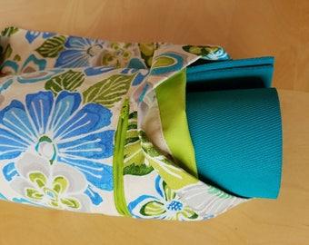 Yoga Bag for Mats, Yoga Tote, Yoga Mat Carrier, Pilates Bag, Mat Tote,  Yoga Class, Fully Lined, Zipper Pocket, Pockets, Tropical Flowers