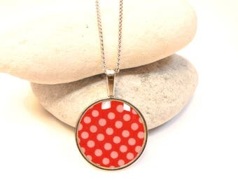 Red polka dot necklace