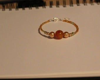 Simple Orange Bracelet