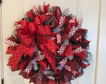 Buffalo Check Christmas Wreath