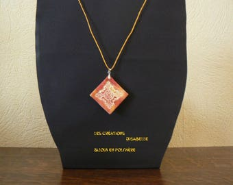 Diamond shaped with inlay