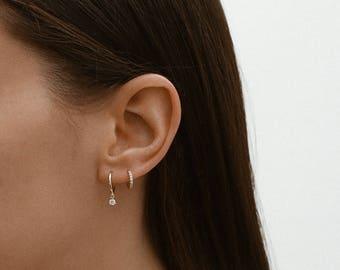 Hoop earrings, tiny hoop earrings, minimalist, dainty hoop earrings, simple earrings, E053