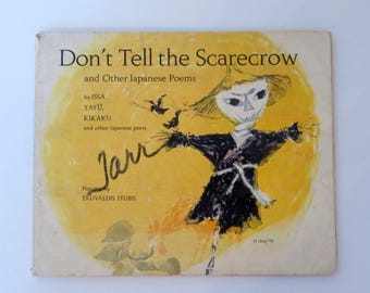 """Vintage Children's Haiku Picture Book """"Don't Tell the Scarecrow"""" 
