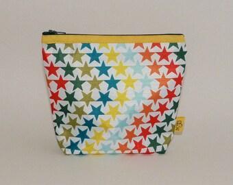 Small waterproof pouch pattern stars