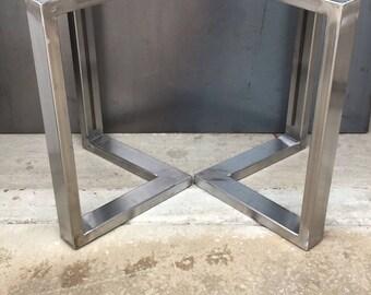 L shape metal legs, set of 2, coffee table legs, metal table legs, bench legs, steel table legs, steel legs, metal legs