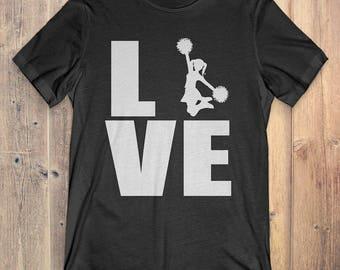 Cheerleading T-Shirt Gift: Love Cheerleading