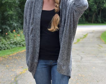 Handmade oversized Women's Cardigan, custom womens cocoon cardigan, oversized sweater