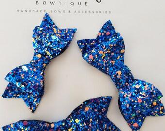 Magic Blue Glitter Bow