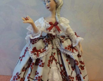 Handmade Porcelain Georgian 1/12th dolls house doll