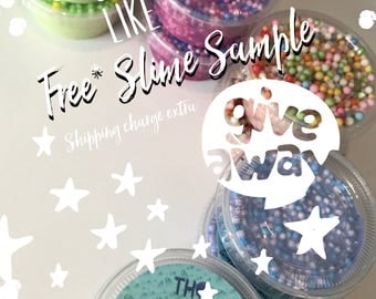 Free* Slime Sample | 2oz | Whipped Butter Slime | Floam Slime | Fluffy Slime | Popcorn Slime | Mystery Slime Type | (Shipping charge extra)