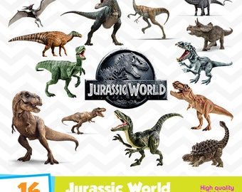 Jurassic World Clipart, Jurassic Park PNG Files, Digital Designs, Party Printables, Dinosaurs Birthday Party, Instant Download, Funny-013