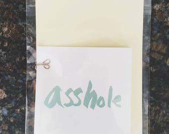 Humorous zine - Asshole