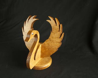 TakeAparts Swan Christmas Swan Holiday Swan Wood centerpiece Birthday gift All occation gift
