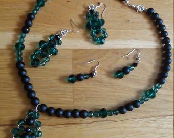 Green / Black Handmade Jewelry Set
