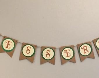 """Woodland Theme """"DESSERTS"""" Banner"""