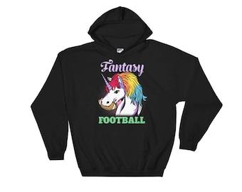 Unicorn Hoodie - Fantasy Football Unicorn - Unicorn Gift - Unicorn Puns - Unicorn Sweatshirt