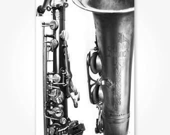 J's Saxophone - Aluminum Photography