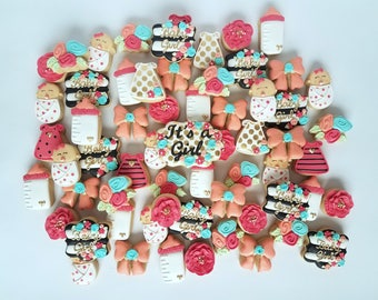 Baby Girl- Baby Shower cookies