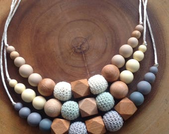 Eileen with Crochet Teething Necklace
