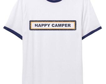 Happy Camper // Ringer Tee // Alternative Apparel // SM001