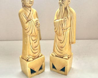 Pair of 8 inch Chinese Figurines