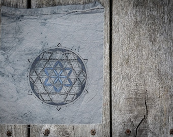 SpaceFlower, flower of life, flower of life, sacred geometry, patches, tshirt, alternative clothes, handmade