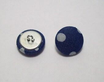 Denim polka dot 21mm-6 covered buttons