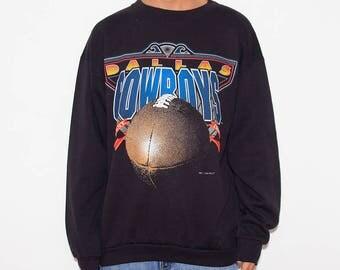 Dallas Cowboys, Dallas, Cowboys Football, Cowboys, Sweatshirt, Gameday, Season, NFL, Game Day, Sweater, Black, Sunday Football, 90s