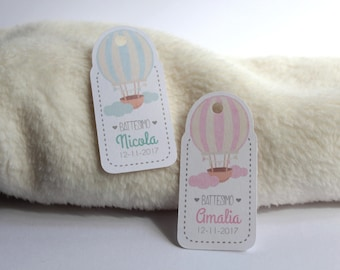 tags labels cards shaped favors particular graphic created by hot air balloon hotairballons moi ill never forget you
