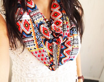Snood collar double mid-season, ethnic