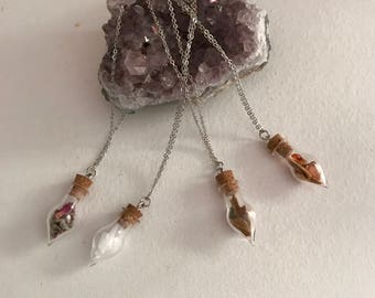 Crystal Spell Bottle Necklaces