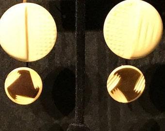 Vintage Repurposed Button Earrings