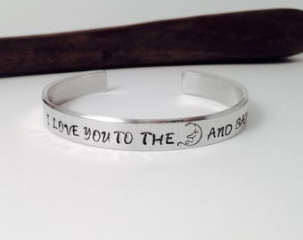 I love you to the moon and back, Mother Daughter, Friendship Gift, Sister gift, BFF gifts, Birthday gift, Gift