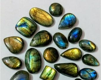 22 Pcs Lot, Mix Shape Multy Fire Labradorite Cabochon/wholesal/Labradorite /Wire Wrapp grmstone/ Designer Jewelry /labradorite cabochon lot