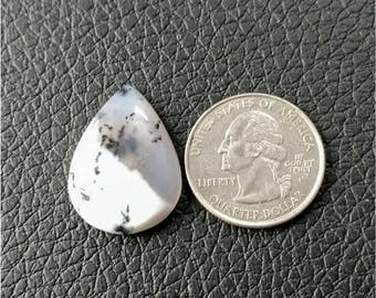 26.60 x 19.25 mm,Pear Shape Dendritic Opal Cobochon/ AAA Dendritic Agate Cabochon /Merlinite Cabochon/ wire wrap stone/Super Shiny/ Cabochon