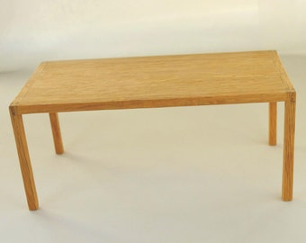 modern oak dining table handmade in 112 scale for miniature collectors and - Contemporary Oak Dining Table