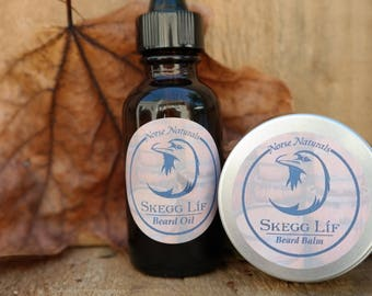 All Natural Beard Oil and Beard Balm Set, 'nýtt upphaf, Gifts for Him, Gifts for Dad