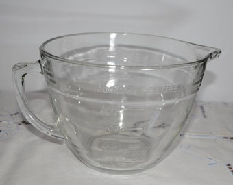 ANCHOR HOCKING, Large Measuring cup, 8 cups, 2 litres, 2 quart, Glass, Vintage, Great Condition, Mid-Century