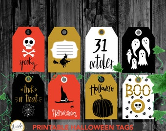 Halloween tags, Printable halloween gift tags, Halloween favor tags, Printable Halloween favor tags, Printable label, kids halloween party