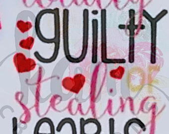 Totally Guilty of Stealing Hearts Kids Shirt
